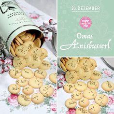 Kekserl-Adventskalender: 24 Keksrezepte zum Downloaden - sugar&rose Gingerbread Cookies, Stuffed Mushrooms, Vegetables, Rose, Desserts, Handy Tips, Advent Calenders, Gingerbread Cupcakes, Stuff Mushrooms