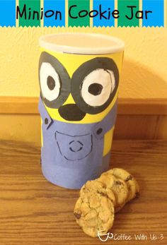 Minion Cookie Jar - Kids Craft. I'm so excited for the Minion Movie!