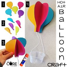 Hot air balloon craft instructions are included as part of Aeronautics Day lesson plans  in the 10 day end of school countdown bundle. Aviation day was a hit with my students!