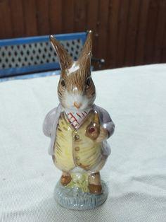 Amiable Nwtib Wedgewood Beatrix Potter Peter Rabbit Blue Boy Piggy Bank Moneybox Last Style Keepsakes & Baby Announcements