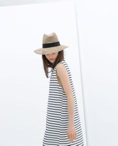 Image 3 of STRIPED COTTON DRESS from Zara