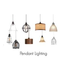 """""""Pendant Lighting"""" by improvements ❤ liked on Polyvore featuring interior, interiors, interior design, home, home decor and interior decorating"""