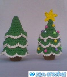 I love Christmas tree. That's why I share this pattern to you who celebrate Christmas. This free amigurumi pattern tree is so easy to croche...