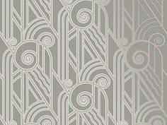 NEW! Volute Art Deco Wallpaper in PEWTER! Bradbury & Bradbury Art Wallpapers ©2005 #BradburyWallpaper