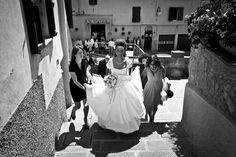Wedding in Maremma: black and white photo