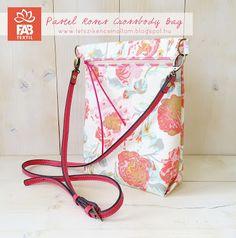 TETSZIK? ÉN CSINÁLTAM :): 'Pastel roses' átvetős táska szabásminta és elkész...