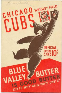 Cubs 1939 Scorecard