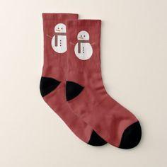 Funny Snowman On Red Socks - Xmas ChristmasEve Christmas Eve Christmas merry xmas family kids gifts holidays Santa