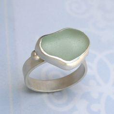 hawaiian sea glass ring | Hawaiian Sea Glass Ring by KiraFerrer on Etsy