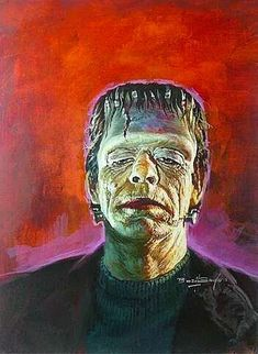 A collection of monster portraits painted by the legendary Basil Gogos. Basil Gogos is an American illustrator best known for his striking portraits of movie Classic Monster Movies, Classic Horror Movies, Classic Monsters, Lugosi Dracula, Horror Pictures, Horror Pics, Real Horror, Horror Monsters, Scary Monsters