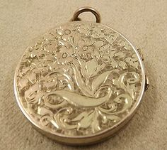 A hand made and engraved locket made around 1900
