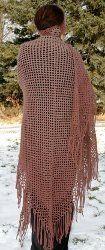 Gradient Color Shawl with Crochet Fringe | AllFreeCrochet.com