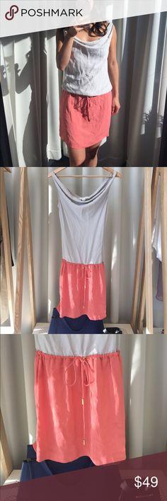 DVF Silk Dress DVF Silk dress with drawstring waist. Diane Von Furstenberg Dresses Mini