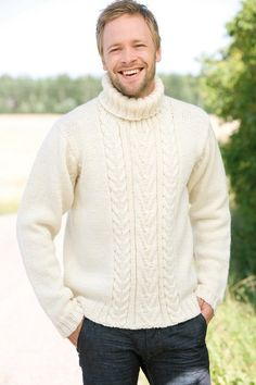 Rubrics, Knitting Designs, Gq, Free Pattern, Men Sweater, Turtle Neck, Boys, How To Wear, Gabriel