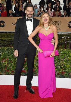Actors Joe Manganiello and Sofia Vergara attend the 22nd Annual Screen Actors Guild Awards at The Shrine Auditorium on January 30, 2016 in Los Angeles, California.