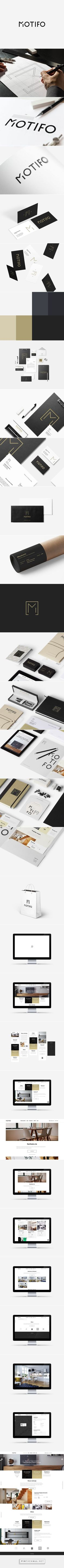 MOTIFO - Interior Design Architect Branding & Website on Behance. - a grouped images picture - Pin Them All Corporate Design, Brand Identity Design, Graphic Design Typography, Corporate Identity, Brand Design, Web Design, Creative Design, Logo Inspiration, Design Graphique