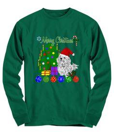 Maltese dog lovers Merry Christmas shirt...