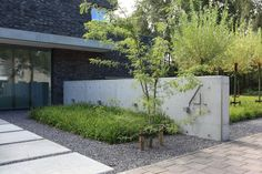 Modern Front Yard, Minimalist Garden, Outdoor Spaces, Outdoor Decor, Garden Architecture, Front Yard Landscaping, Garden Paths, Curb Appeal, Outdoor Gardens