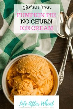Pumpkin Pie No Churn Ice Cream makes the perfect Summer or Fall dessert! Smooth, creamy, and packed with pumpkin pie flavor, this easy no churn ice cream doesn't require an ice cream maker.
