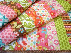 retro fabrics quilt ♥