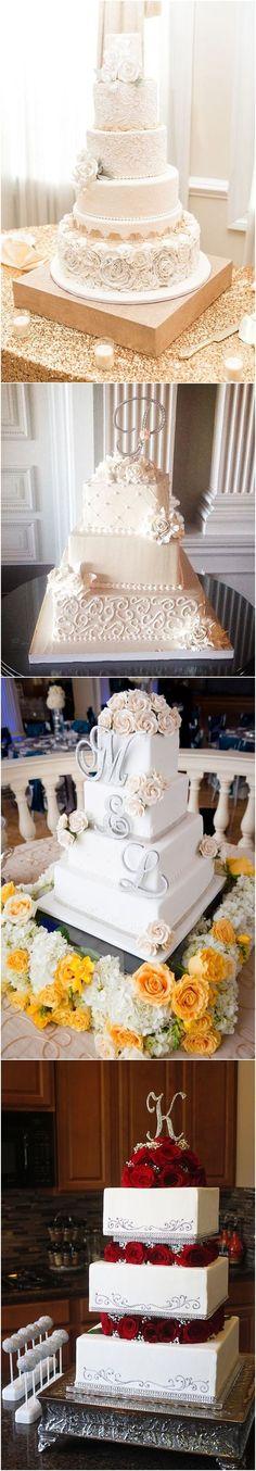 vintage elegant wedding cake #weddings #weddingcakes #cakes #rosesandrings #vintageweddings