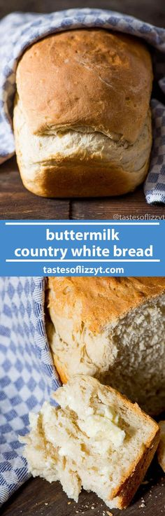 My grandma's recipe for a simple buttermilk country white bread. This is a thick, rustic bread with perfect texture and flavor. Make in the bread machine or by hand.