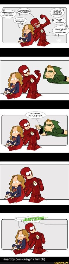theflash, supergirl, arrow, singing