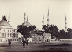 Sultanahmet Mosque and Atmeydani, Istanbul. ROBERTSON, James and BEATO, Felice. Published by c., 1855