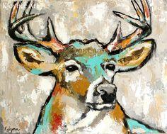 Buck Deer Painting By Kendra Joyner