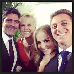 Xuxa e Junno com Angélica e Luciano Huck (Foto: Instagram / Reprodução)
