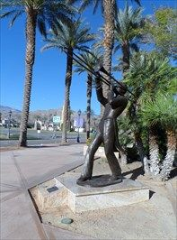 """Charles """"Buddy"""" Rogers - Cathedral City, CA - Musician Statues on Waymarking.com"""