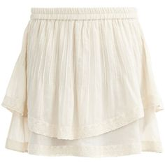 Vila Short, Feminine Skirt (125 DKK) ❤ liked on Polyvore featuring skirts, bottoms, pink champagne, off white skirt, short skirts, pleated skirt, short pleated skirt and pink layered skirt