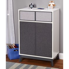 Sleek and chic, this couture storage cabinet is the perfect choice for a versatile storage piece for kids, teens and adults.