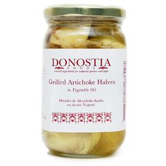 Grilled artichoke halves marinated in oil and salt to retain and refine the fire roasted flavor. Grown in Murcia in the southeast of Spain, a region on the coast of the Mediterranean Sea, artichokes a