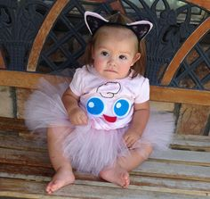 Costume includes: -Shirt with jigglypuff face -Ears -Pink tutu that is not…