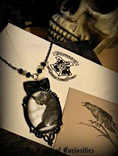 Gothic jewellery - Black cat cameo http://www.etsy.com/shop/TheCryptOfCuriositie