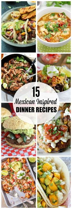 Mexican inspired dinner recipes for your next Cinco de Mayo celebration! From tacos to posole, there's plenty of options to spice up your dinner rotation! by dee