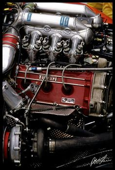 F1 Motor Ferrari V6 Turbo-1986-Copyright © 1952-2013 The Cahier Archive