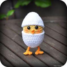 НАША СТРАНА МАСТЕРОВ: Вязание игрушки амигуруми. Желтый цыпленок в яйце