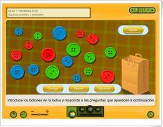 """Azar y probabilidad: """"Sucesos posibles y probables"""" (Aplicación interactiva de Matemáticas de Primaria) The Unit, Activities, Math, Games, Ideas, Probability Games, Maths Area, Teaching Resources, Plays"""