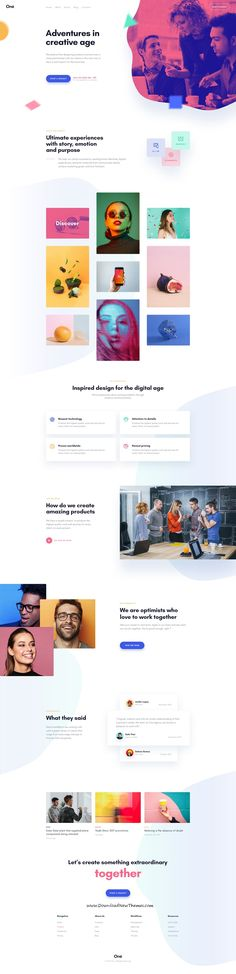 Buy Onne - Creative & Clean Multipurpose Template by suketran on ThemeForest. Introducing Onne Onne is a beautiful, multipurpose template with trendy design web pages which responds to the most d. Web Design Agency, Web Design Trends, Blog Design, App Design, Website Layout, Web Layout, Layout Design, Nice Website, Ui Kit