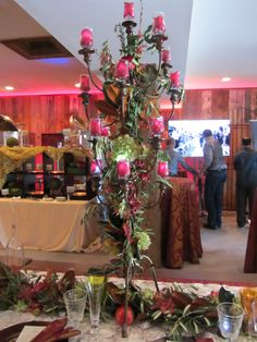 Rose candelabra at Winery at Bull Run event