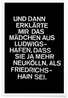 Ludwigshafen als Premium Poster door Herzette Portrait, Stationery, Poster, Calm, Wall Art, Artwork, Ss16, Quotes Motivation, True Words
