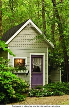 A decorative garden shed can be the ideal place to store garden tools and equipment, or it can be used as a child's backyard hideaway. shed design shed diy shed ideas shed organization shed plans Backyard Storage Sheds, Backyard Sheds, Shed Storage, Garden Sheds, Garden Tools, Diy Storage, Backyard Playhouse, Outdoor Sheds, Backyard Chickens