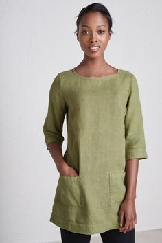 1c3163c0742 A garment-dyed, pure linen ladies' tunic by Seasalt This loose fit style