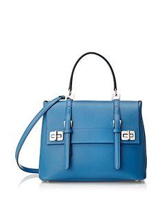 Prada Women's Leather Satchel, Blue