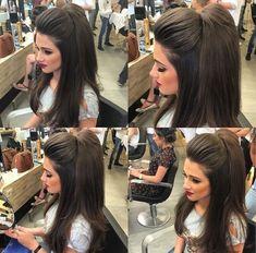 Half up hairdo Up Hairdos, Pretty Hairstyles, Braided Hairstyles, Wedding Hairstyles, Pageant Hair, Prom Hair, Cabelo Pin Up, Hair Due, Pinterest Hair
