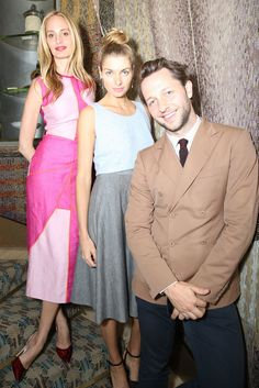 Lauren Santo Domingo, Jessica Hart, and Derek Blasberg