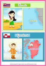 Les pays du monde et leurs drapeaux: plusieurs pages avec bcp de pays, un planisphère...