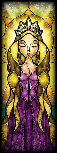 Rapunzel Stained Glass.